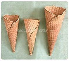 Receta de Conos para helados                                                                                                                                                                                 Más
