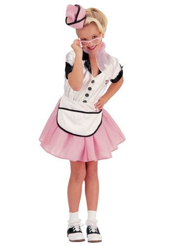 50s Child Soda Pop Girl Costume - another one Sarah would love