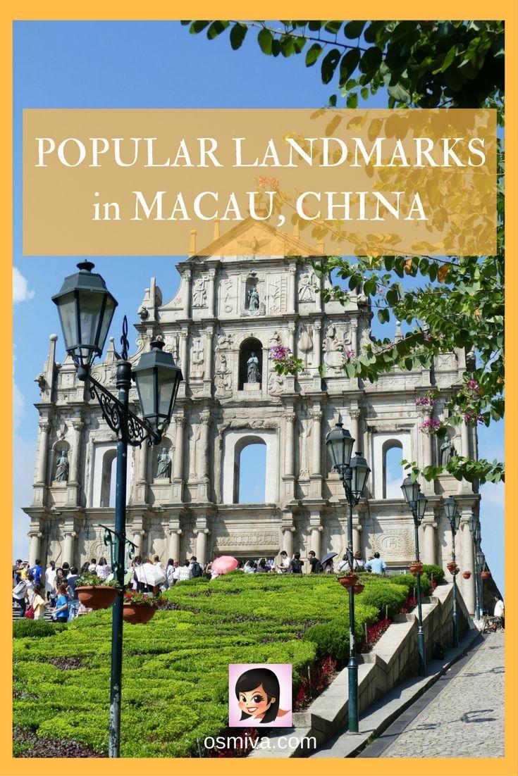 Travel Ideas. Travel Inspiration. Asia. Macau. Macau, China. Popular Landmarks in Macau, China. Landmarks in Macau, China. Popular Attractions.