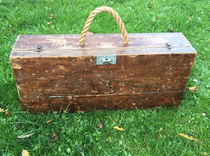 Vintage Wooden Joiners Tool Storage Box With Removable Drawer Seller Refurbished  | eBay