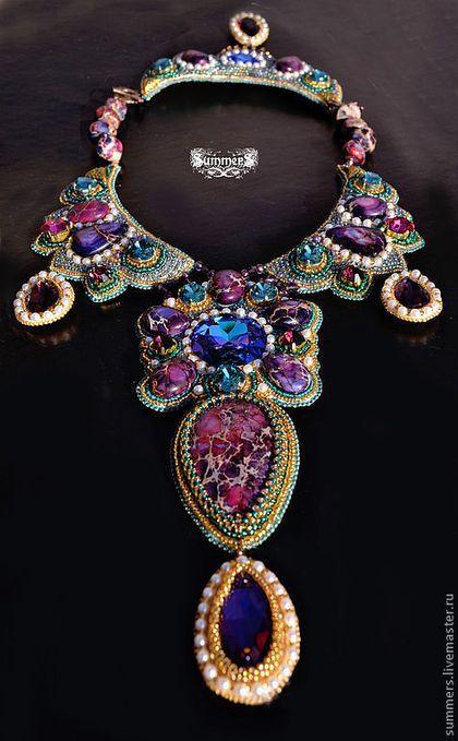 Beaded necklace / Колье, бусы ручной работы. Ярмарка Мастеров - ручная работа…