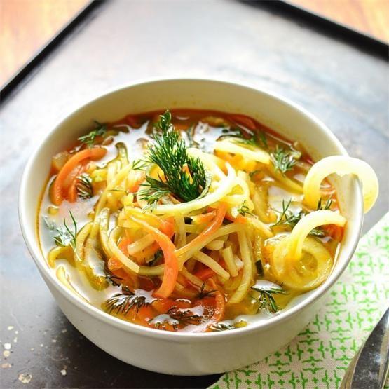 How To Make Spiralized Vegetable Soup by @monika8021 - #KeepOnCooking #GlutenFree #Soup #Stew #Vegan #Vegetable #Vegetables #Vegetarian