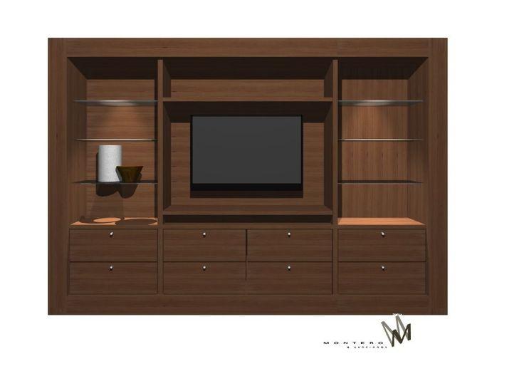 Mural TV para una sala de estar en www.cristianmontero.cl