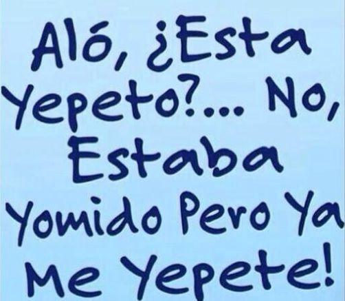 Aló esta #Yepeto?...No estaba yormido pero ya Yepete! #Humor http://www.gorditosenlucha.com/