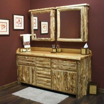 Cedar Lake Solid Wood Logger Vanity 24 72 Medicine Lakes And The O 39 Jays