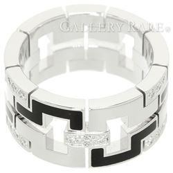 カルティエ リング パドロック ダイヤモンド 約0.27ct オニキス K18WGホワイトゴールド リングサイズ56 Cartier ジュエリー ドラゴン ダイアモンド 指輪