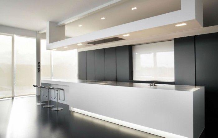 Luxe keukens met kookeiland google zoeken interieur pinterest modern en met - Keuken back bar ...