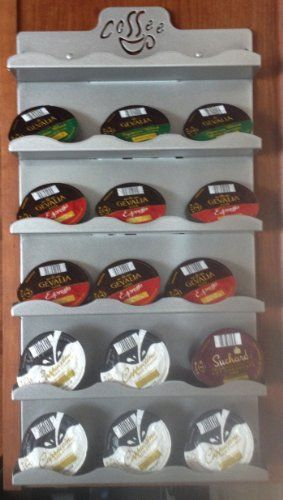 Universal Coffee Pod Storage / Disk / Capsule / Wall Rack (Platinum) - http://nespressoshop.net/universal-coffee-pod-storage-disk-capsule-wall-rack-platinum-2