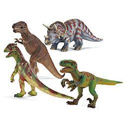 Brrrhhh, die #Saurier kommen! Kleine #Dinofans können die kompliziertesten Sauriernamen auswendig. Die beliebten #Dinosaurierfiguren von #Schleich gibt es hier im 4er-Pack und zum super Preis!