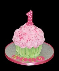 large cupcake cake | giant cupcake cake first birthday smash cake pink