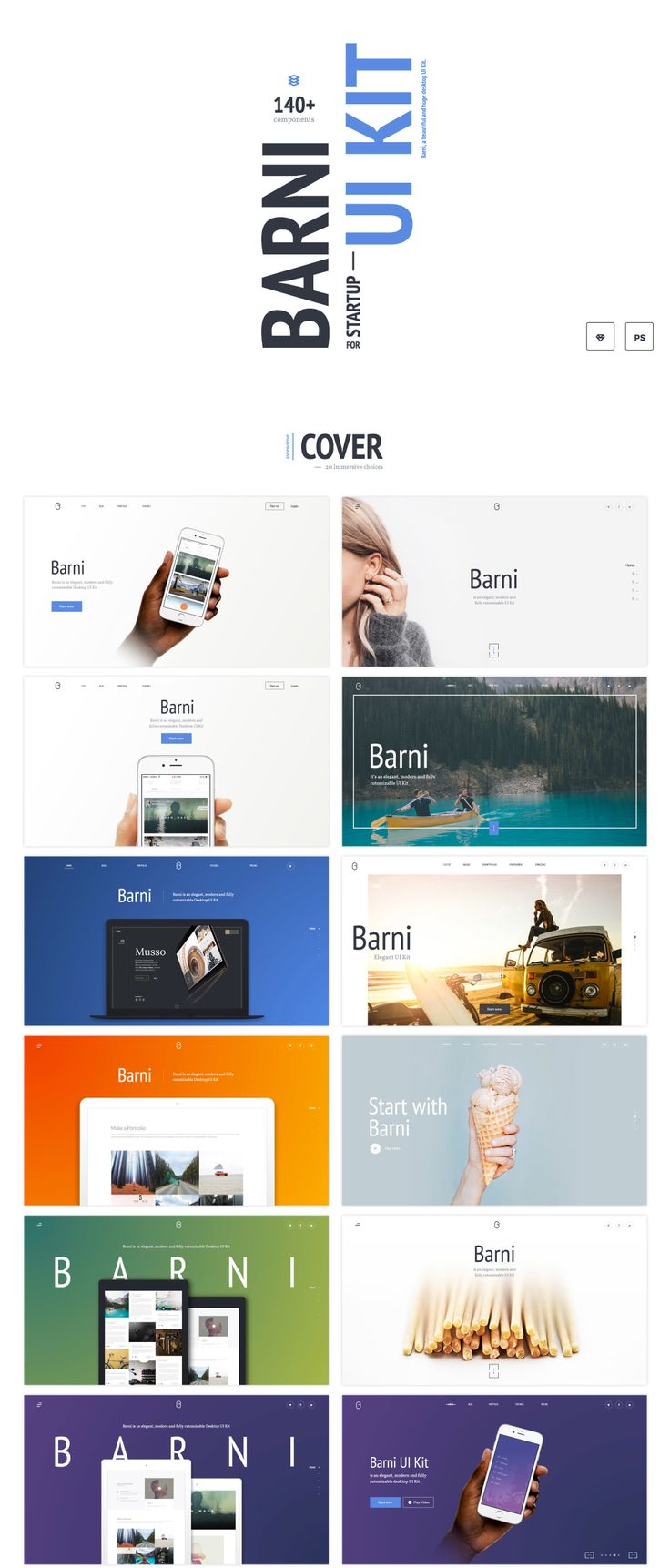 UI8 — Products — Barni UI Kit for Startup