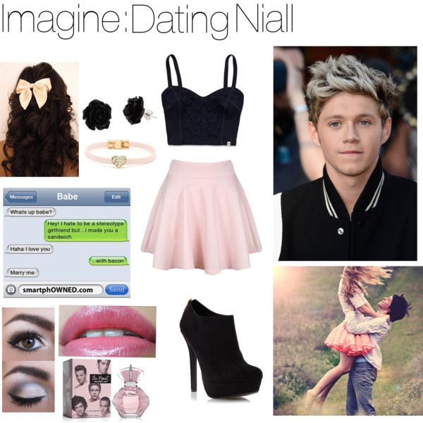 """""""Imagine: Dating Niall Horan"""" by mustachecastache98 on Polyvore lol read the text messages!"""
