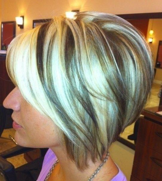 Ombre Bob Hair Styles: Omgekeerde kort kapsel