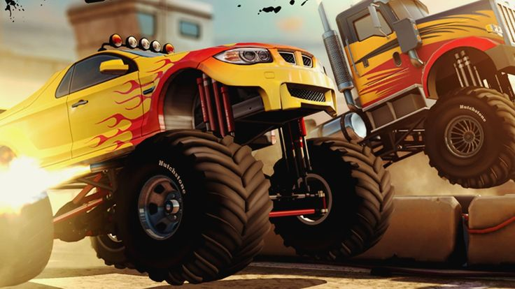 MMX Racing Exhibition gameplay - Monster Truck cars iOS/Android WWE game