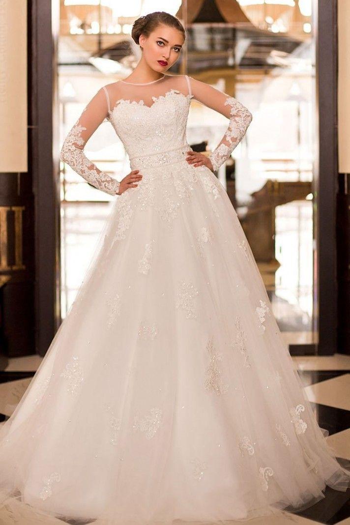 abiti da sposa maniche lunghe effetto tattoo, vestito adatto per un matrimonio boho chic