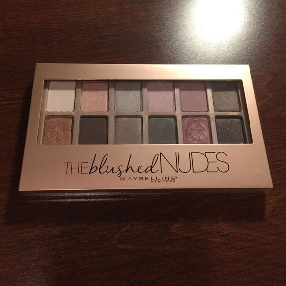 Maybelline Blushed Nudes Eyeshadow Palette Maybelline Blushed Nudes eyeshadow palette; in very good condition; does not come with brush Maybelline Makeup Eyeshadow