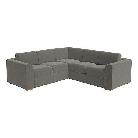 Debenhams Medium natural grain leather 'Jackson' corner sofa | Debenhams