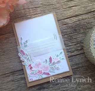 Hello Lovely - Renee Lynch Independent Stampin' Up! Demonstrator - Jar of Love Stamp - stampin up - wedding card - vellum - kraft card