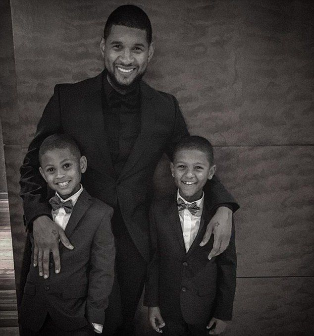 A dad's life: Usher has two children: eight-year-old Usher Raymond V and seven-year-old Naviyd Ely Raymond, with his ex-wife Tameka Foster