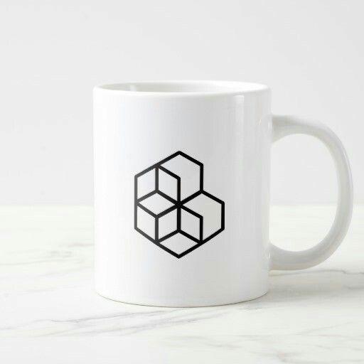 Make your #coffee and satisfy your #taste in a Horse #Liky #exagon #monochrome #geometric #design #mug  https://www.zazzle.co.uk/horse_large_mug-183028062676017033