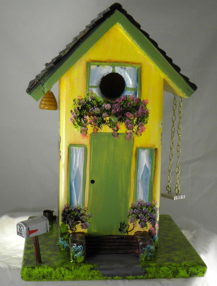 best 25 bird houses painted ideas on pinterest
