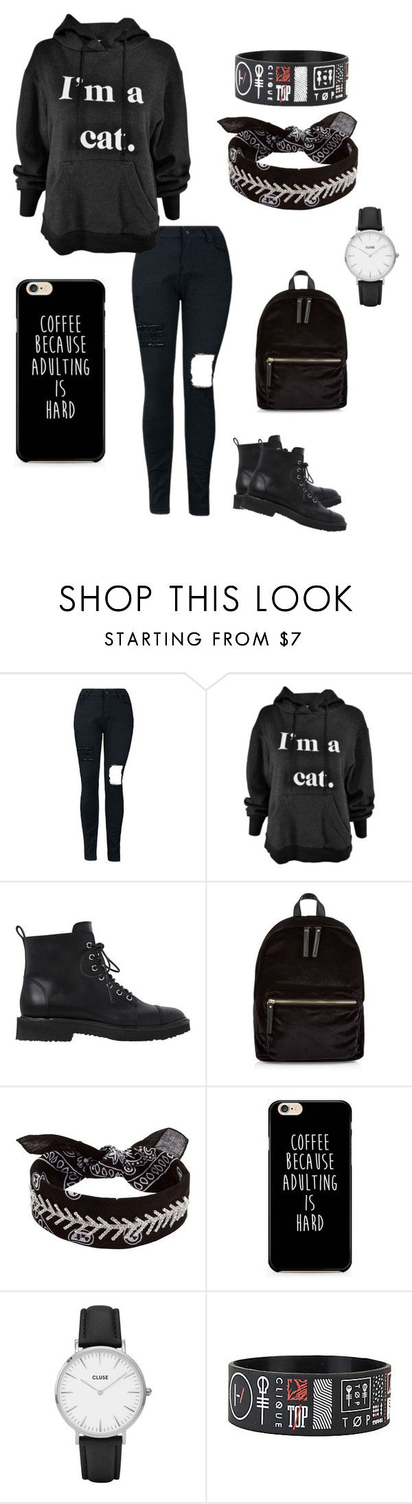"""ehh"" by svdalen on Polyvore featuring mode, Giuseppe Zanotti, New Look, Fallon en CLUSE"