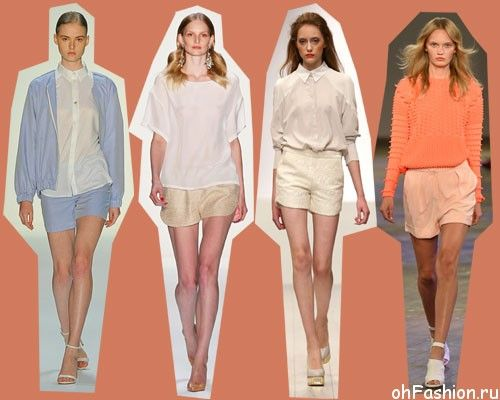 Какие мини-шорты будут в моде - летняя мода 2014