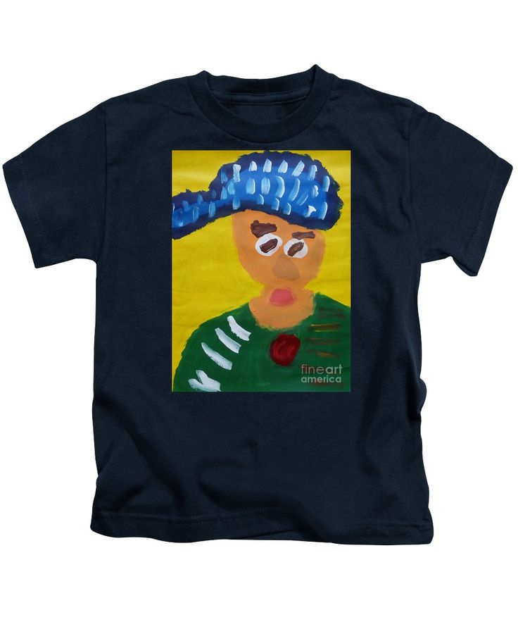 Patrick Kids T-Shirt featuring the painting Portrait Of Camille Roulin 2015 - After Vincent Van Gogh by Patrick Francis