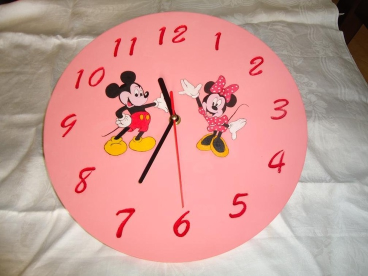 orologio in legno topolino, by Decori a mano, 20,00 € su misshobby.com