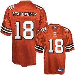 Reebok Cleveland Browns Donte Stallworth 18 Orange Authentic Jerseys Sale