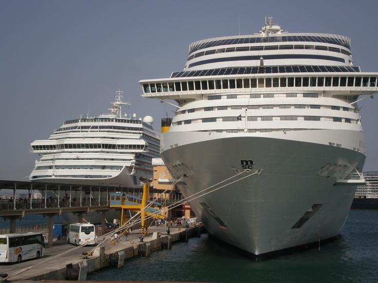 Navi da crociera Costa Concordia ed MSC Fantasia