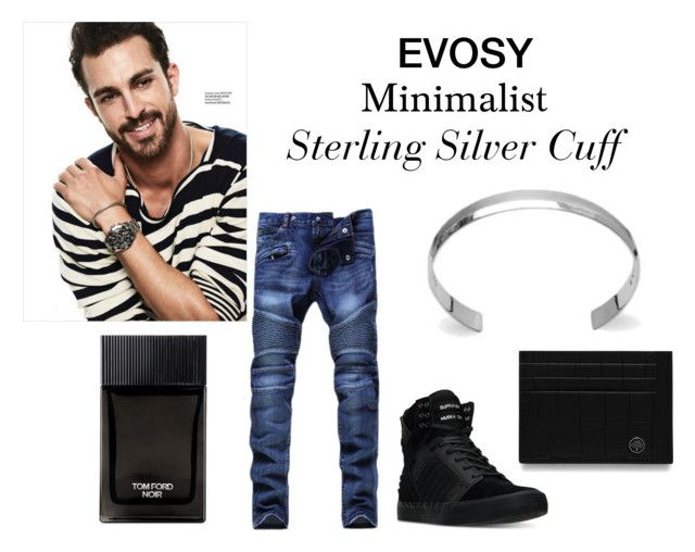 """Casual Luxury"" by evosy on Polyvore featuring Supra, Tom Ford, Mulberry, men's fashion et menswear"