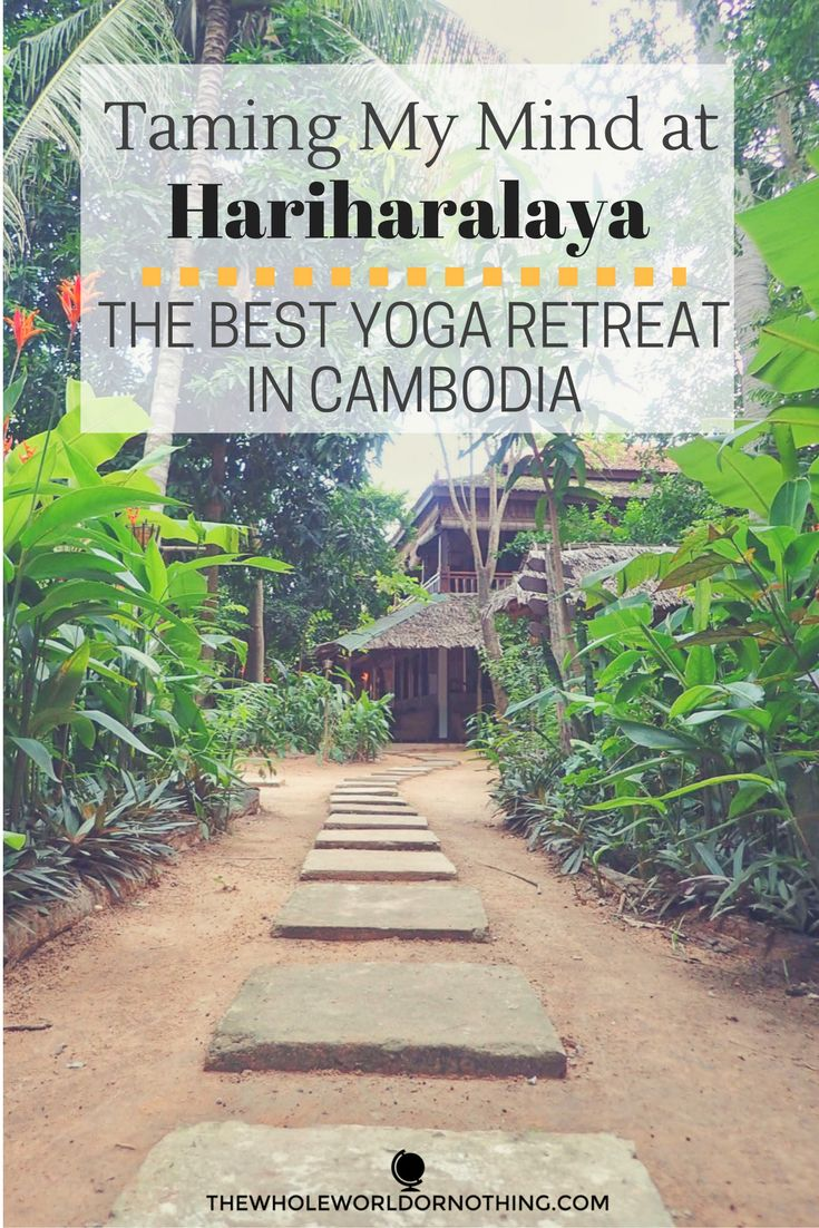 In need of a time out? Want to learn more about yoga and meditation? Book a  place at the best yoga retreat in Cambodia, Hariharalaya.