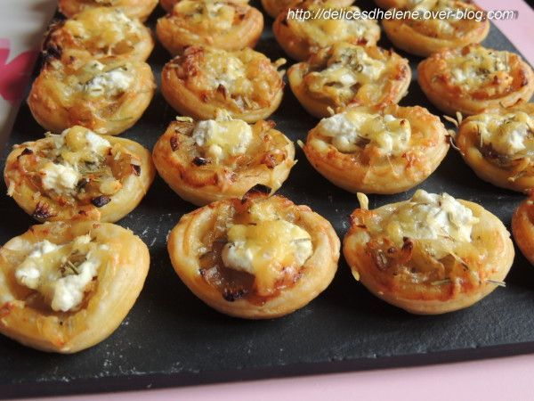 tartelettes aux oignons caramélisées et chèvre frais (2)