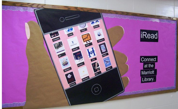 Cute bulletin board idea--others on this site for library bulletin boards