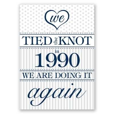 Once Again - Vow Renewal Invitation - Change it to the year you were married!