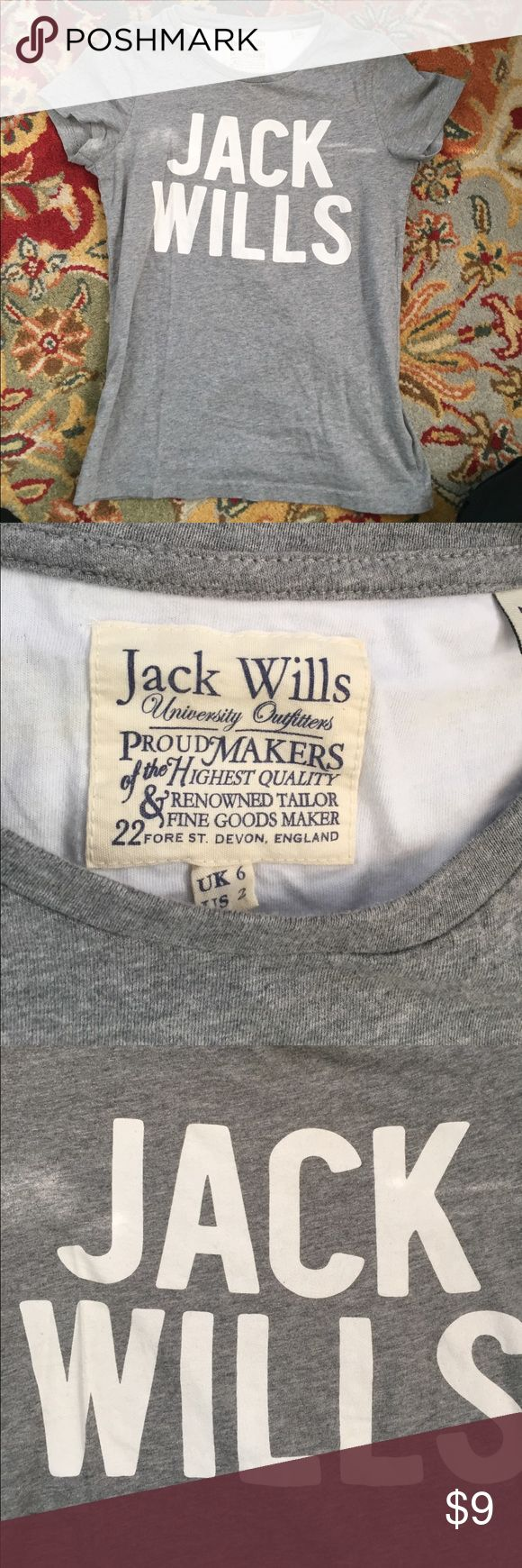 Jack Wills t shirt Good condition US SIZE 2. Cotton t shirt. Jack Wills Tops Tees - Short Sleeve