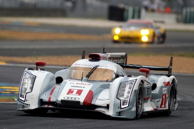 Le Mans starting grid set, Audi hybrid takes pole but Toyota's break up the pack