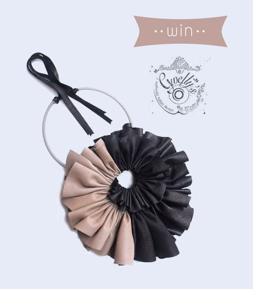 Bloesem giveaway of Giulia Boccafogli Spirale necklace made with recovery leather