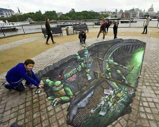 Teenage Mutant Ninja Turtles calk art