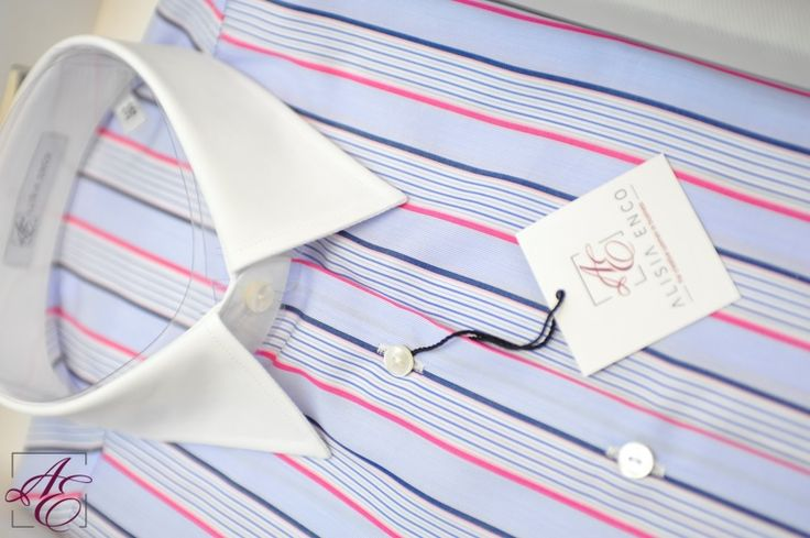We're trying to lure spring in, with the wonderfully striped, joyfully colored #Creative #Business shirt with white cuffs. Check it out here: http://www.alisiaenco.com/shirts/creative-business-1/blue-shirt-with-stripes-white-collar-and-cuffs #shirtoftheweek