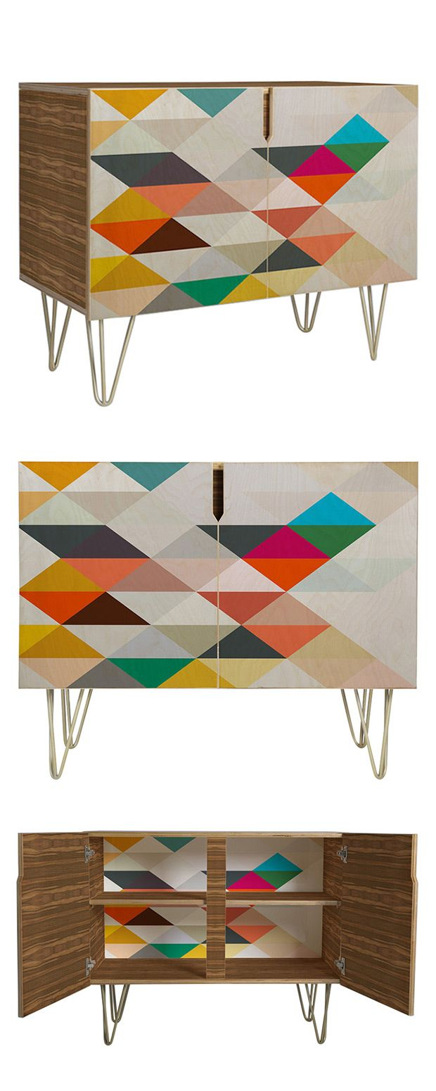 The Paradigm Credenza brings a sought-after vintage look to a casual space asking for an uplift. If you're a fan of retro-inspired décor, you'll adore its festive geometric pattern. Take full advantage...  Find the Paradigm Credenza, as seen in the Cabinets Collection at http://dotandbo.com/category/furniture/bookcases-and-cabinets/cabinets?utm_source=pinterest&utm_medium=organic&db_sku=116076
