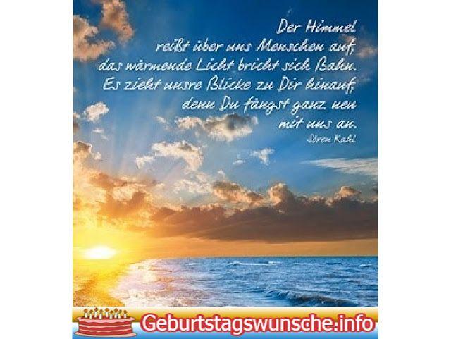 Geburtstagsgrüße In Den Himmel Deutsch
