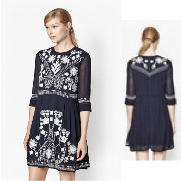 TO BUY: French Connection - Kiko Stitch Embroidered Dress £135