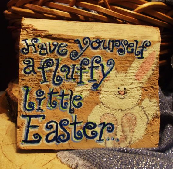 Springy Easter design is handpainted on by expressionshop on Etsy, $13.00