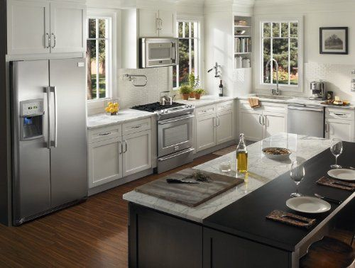 Santas Tools and Toys Workshop: Kitchen: NEW Frigidaire Professional 4 Piece Stainless Steel Appliance Package with Counter Depth Refrigerator #1 click through for pricing and details.