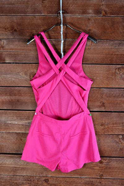 Hot Pink Romper #swoonboutique
