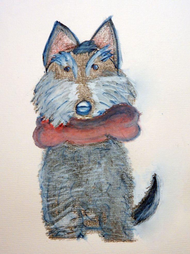 "Studio di ""Brave lo Scottish Terrier"" (""Brave the dog"" - fairy tale character)"