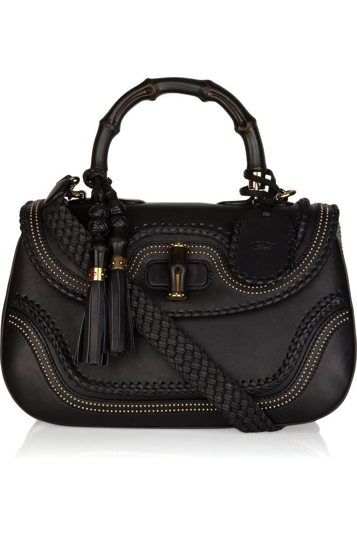Gucci bamboo stud-embellished leather tote Brought to you by http://www.etsy.com/shop/UncommonRecycables