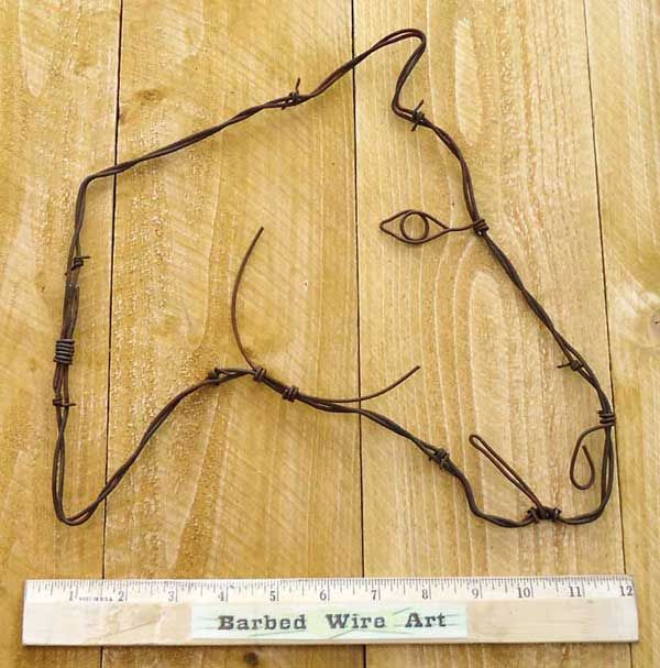 Barbed wire art projects related keywords barbed wire for Wire art projects